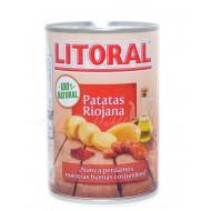 Patatas a la riojana con chorizo Litoral 425 Grs