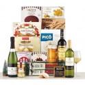 Spanish specialties Christmas box 16 items (Iberian sausage and chorizo, Turron, Polvorones)