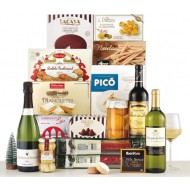 Spanish specialties Christmas box 16 items (Iberian sausage and chorizo, Turron, Polvorones)