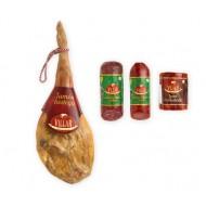 Lote de navidad Jamón Bodega, embutidos ibericos y queso
