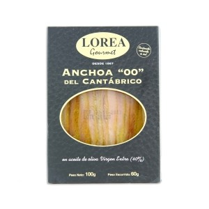Anchovies extra large size 00 - 100 Grs Lorea Gourmet