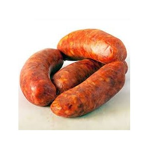 Iberian pata negra chorizo for cooking 2x120 Grs