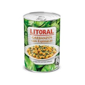 Chick beans and spinach stew Litoral 425 Grs