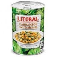 Garbanzos con espinacas Litoral 425 Grs